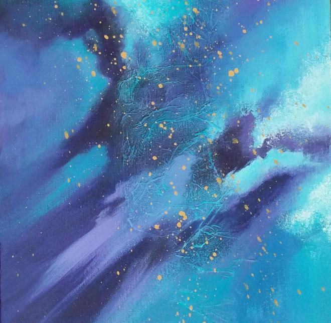 Vibrations cosmiques II 30X30 2017